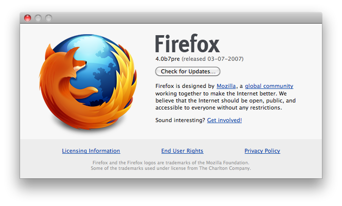 New About Firefox Window
